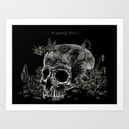 Columbine and skull Art Print