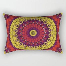 Mandala Fractal in Indian Summer 01 Rectangular Pillow