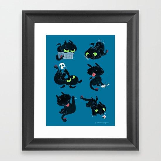 I'm a dragon person Framed Art Print