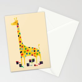 Paint by number giraffe Stationery Cards