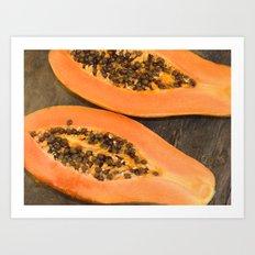 papaya fruit Art Print