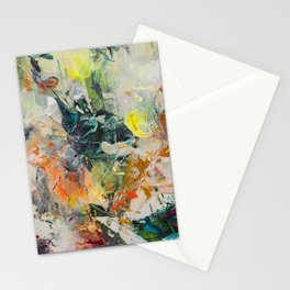Pressure Creates Diamonds ○ colorful, contemporary abstract art painting Stationery Cards