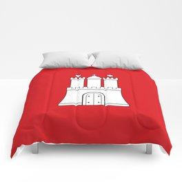 Flag of hamburg Comforters