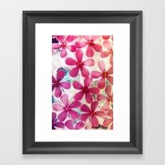 Flowers in crystal Framed Art Print