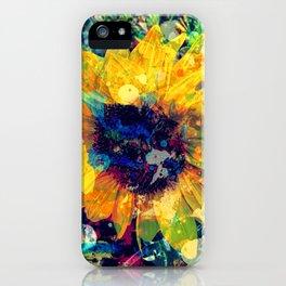Sunflower Batik iPhone Case