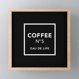 Black Coffee No5 Framed Mini Art Print