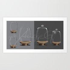 Glass ball jar - High resolution PSD Files for Manipulators Art Print