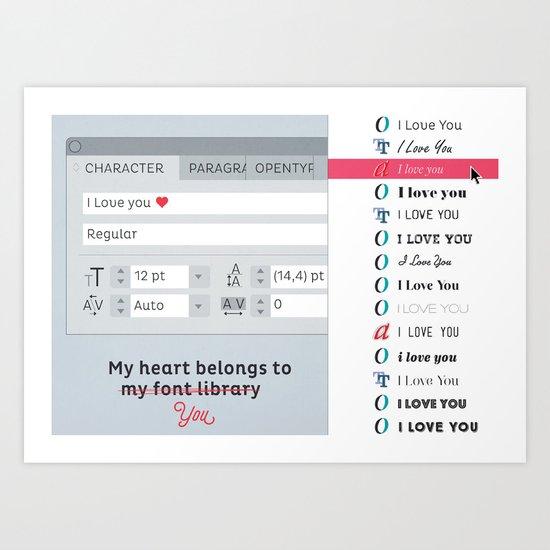My heart belong to... Art Print
