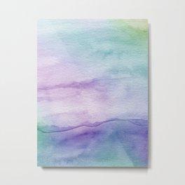 Watercolor Mystery II - Abstract Art Metal Print