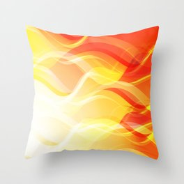 Theme of fire for the banner. Bright red and orange glare on a gentle background for a fabric or pos Throw Pillow
