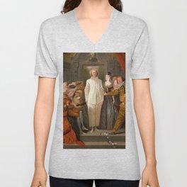 "Antoine Watteau ""The Italian Comedians"" (I) Unisex V-Neck"