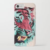tiger iPhone & iPod Cases featuring Tiger by Roland Banrevi