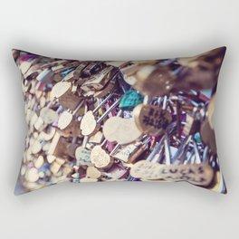 Paris Love Locks Rectangular Pillow