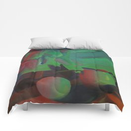 Red and Green Lights Comforters
