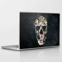 skull Laptop & iPad Skins featuring Vintage Skull by Ali GULEC