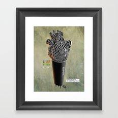 CRZN Dynamic Microphone - 002 Framed Art Print