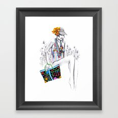 Tropic relief Framed Art Print