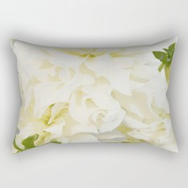 Cream Peonies | Flowers | Flower | Florals | Nadia Bonello | Canada Rectangular Pillow