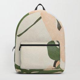 Under the Monstera Leaf Backpack