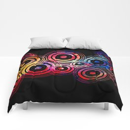 Vector circle shapes of the universe Comforters