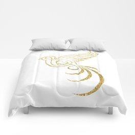 Golden Songbird Comforters