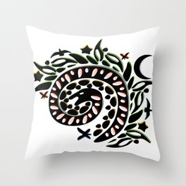Snake in the Grass Throw Pillow