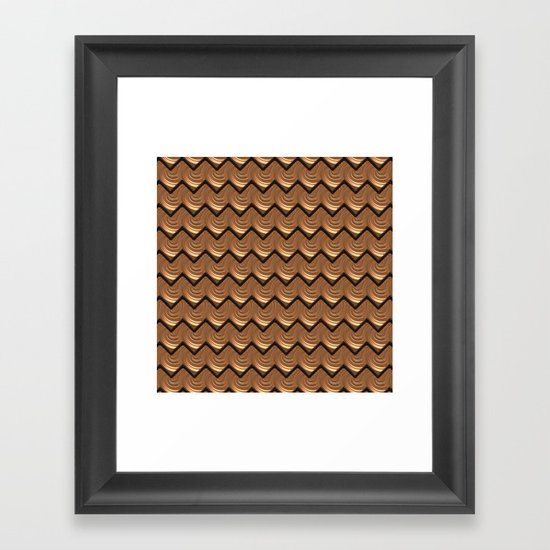 Chocolate Frosting Framed Art Print