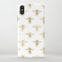 Gold Bee Pattern iPhone Case