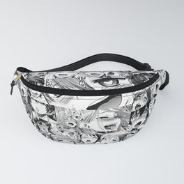 Ahegao Hentai Girls Anime Collage Fanny Pack
