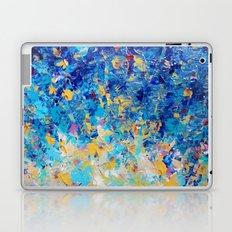 HYPNOTIC BLUE SUNSET - Simply Beautiful Royal Blue Navy Turquoise Aqua Sunrise Abstract Nature Decor Laptop & iPad Skin