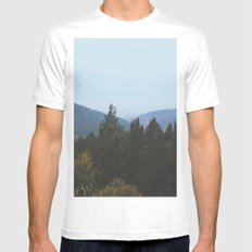 Mountain View MEDIUM Mens Fitted Tee White