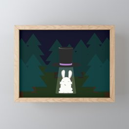 The abduction of Mr. Rabbitson Framed Mini Art Print