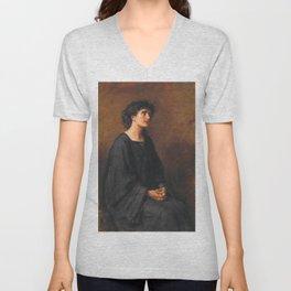 John Everett Millais - A Disciple Unisex V-Neck