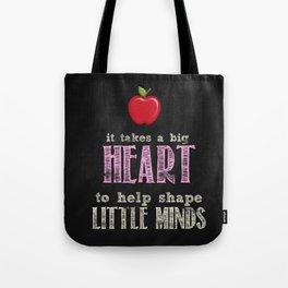 Big heart Pink Tote Bag