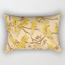 Feathered Friends Batik Rectangular Pillow