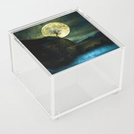 The Moon and the Tree. Acrylic Box