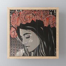 Rose crown Framed Mini Art Print