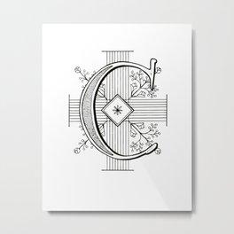 Monogram C Metal Print