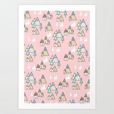 PINK MAGIC FOREST Art Print