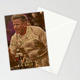 Gordon Ramsay Artistic Illustration Sparkle Style Stationery Cards