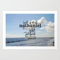 Nathaniel Art Print