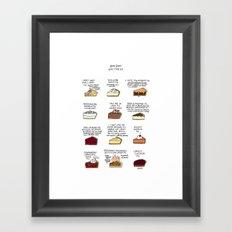 Waitress Pies Framed Art Print