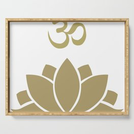 OM Lotus Serving Tray
