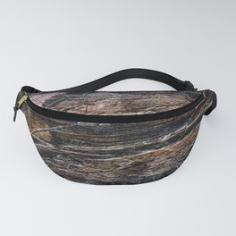 Rustic Cracked Paint Acrylic Abstract Fanny Pack