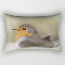 Robin Taking A Bath Rectangular Pillow