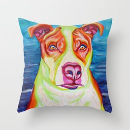 Rudy, the Science Dog Throw Pillow