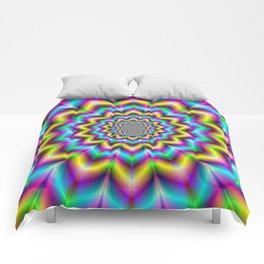 Yellow Blue and Violet Star Comforters