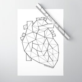Minimal crystal heart anatomy Wrapping Paper