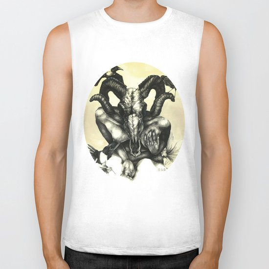 The Ram and the Crows Biker Tank
