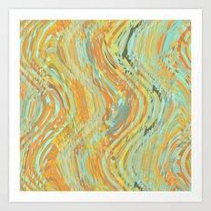 Rustic Waves Art Print